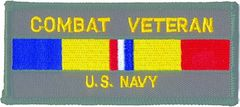 COMBAT VETERAN U.S. NAVY RIBBON