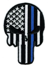 PUNISHER SKULL WITH THIN BLUE LINE (SMALL)
