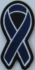 DARK BLUE RIBBON COLON CANCER AWARENESS