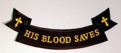 HIS BLOOD SAVES ROCKER LARGE