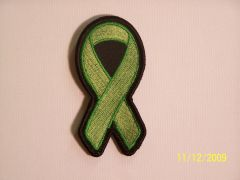 LIME GREEN RIBBON LYME DISEASE, KIDNEY CANCER...AWARENESS