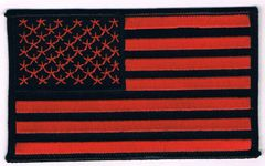 AMERICAN FLAG BLACK & RED (MEDIUM)