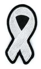 WHITE RIBBON LUNG & BONE CANCER AWARENESS