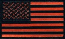 AMERICAN FLAG BLACK & ORANGE (MEDIUM)
