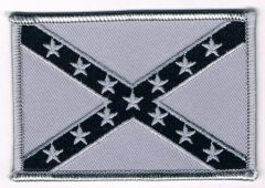 Rebel Confederate Flag large (black and silver)
