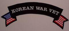 KOREAN WAR VET W/ AMERICAN FLAG (ROCKER)