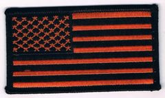 AMERICAN FLAG BLACK & ORANGE (SMALL)