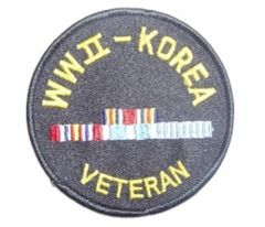 WW II - KOREA VETERAN W RIBBONS