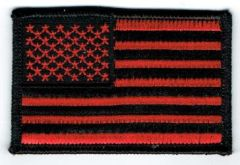 AMERICAN FLAG BLACK & RED (XSMALL)
