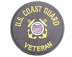 U.S. COAST GUARD VETERAN W EMBLEM