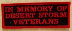 IN MEMORY OF DESERT STORM VETERANS