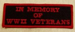 IN MEMORY OF WWII VETERANS