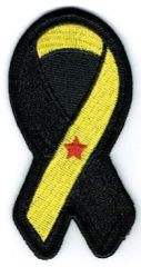 TROOPS RIBBON BLACK & YELLOW WITH RED STAR AWARENESS