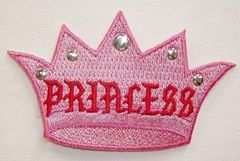 PRINCESS PINK CROWN WITH STUDS