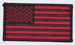 AMERICAN FLAG BLACK & RED (SMALL)