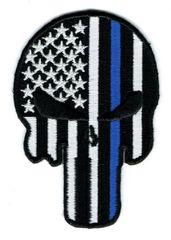PUNISHER SKULL WITH THIN BLUE LINE (medium)