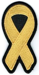 GOLD YELLOW RIBBON CHILDHOOD CANCER AWARENESS