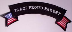 IRAQI PROUD PARENT RIBBON W US FLAG ACCENT LRG