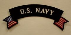 U.S. NAVY W/ AMERICAN FLAG (ROCKER)