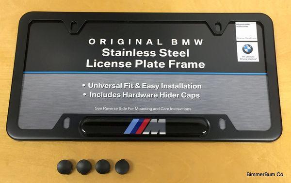 Genuine Bmw Black M License Plate Frame 82120010404