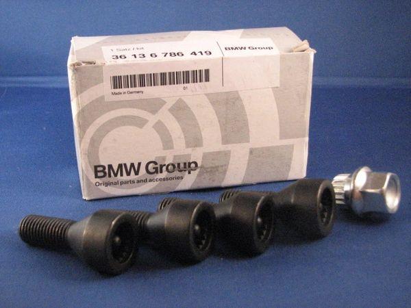 Genuine Bmw Locking Wheel Lug Set 36136786419