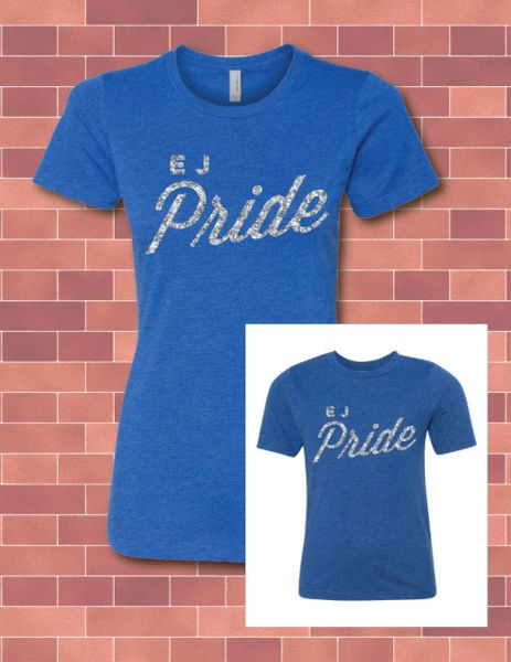 LADIES & GIRLS TRI-BLEND T WITH GLITTER