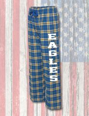 Fan Favorite Royal & Gold Flannel Pants