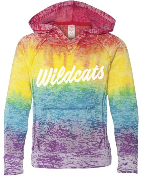RAINBOW BURN-OUT HOODY