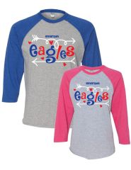 EAGLES JUMBLE RAGLAN