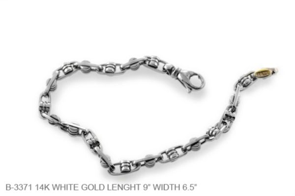 baae5b53ad9 White Gold Bracelet Men s
