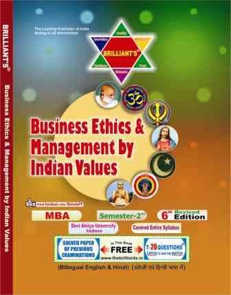 Business Ethics and Management by Indian Values brilliant ' s