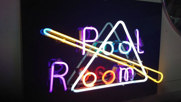 Pool Table Neon Sign AT Estate Resale - Neon pool table