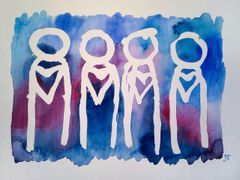 "11x15"" colorful heart people"