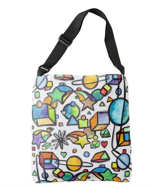 Cosmic Geometric Tote Bag