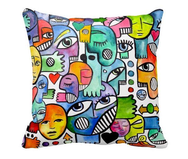 Graffix Throw Pillow