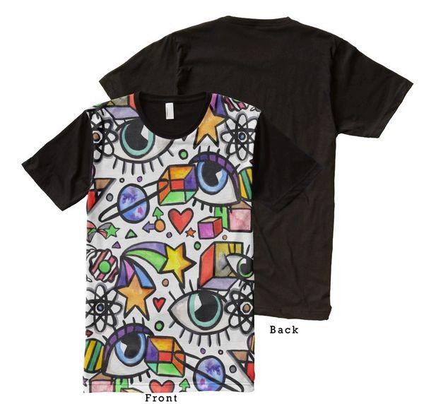 Eyes and Cubes Graffix Shirt