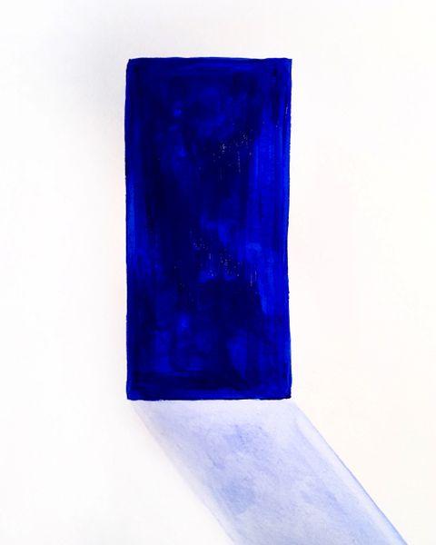"Blue Monolith 9x12"" acrylic original"