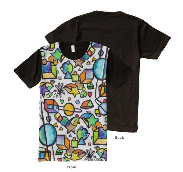 Cosmic Geometric Graffix Shirt