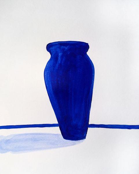 "Blue Vessel 9x12"" acrylic original"