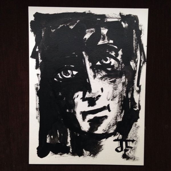 """India ink face 9x12"""""""