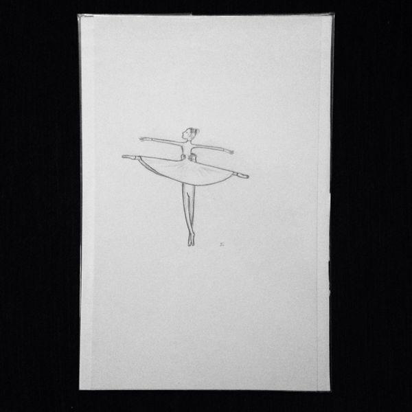 "Ballet 9x6"" graphite drawing"