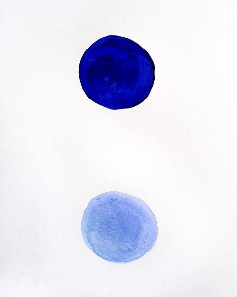 "Blue particle 9x12"" acrylic original"