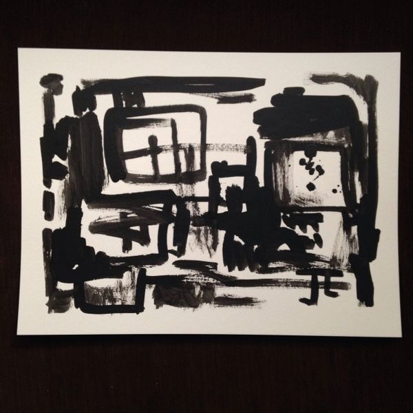 """India ink abstract 9x12"""""""
