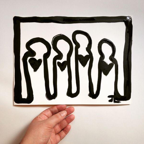 "9x12"" Original Heart People Bold"