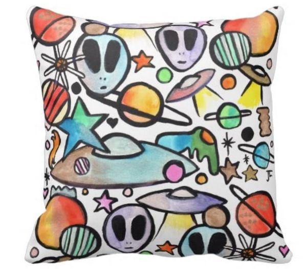 Alien Graffix Pillow
