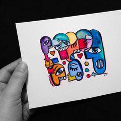 Graffix original mini watercolor