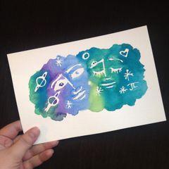 "Cosmic Watercolor Mini 6x9"""