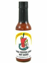 "Another Bloody Day in Paradise (Three Pepper Lemon) Hot Sauce - (Twelve ""12"" Pack Of 5 Oz. Bottles)"