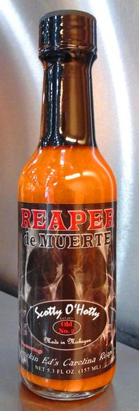 Scotty O'Hotty Reaper de Muerte Hot Sauce Made with Smokin Ed's Carolina Reapers - (Single Bottle)