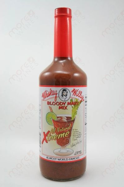 "Whiskey Willy's Xtreme Bloody Mary Mix - (Two ""2"" Pack Of 32 Oz. Bottles)"